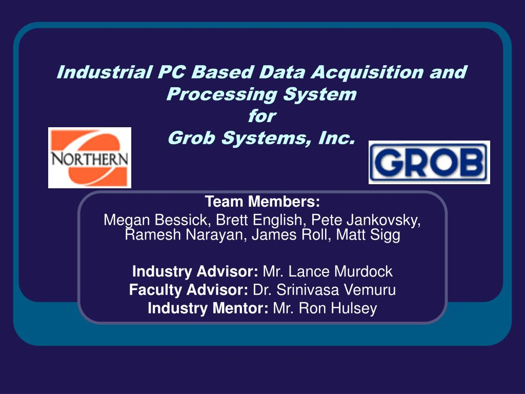 Pc Data Acquisition : Ppt industrial pc based data acquisition and processing