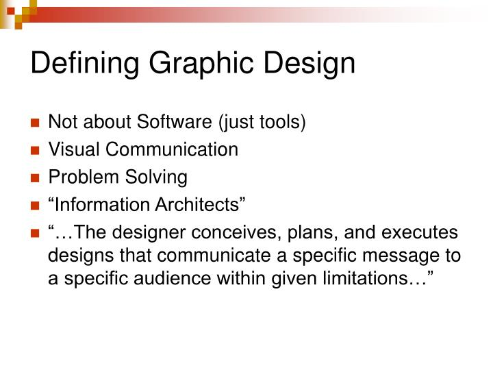 Defining graphic design