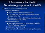 a framework for health terminology systems in the us19
