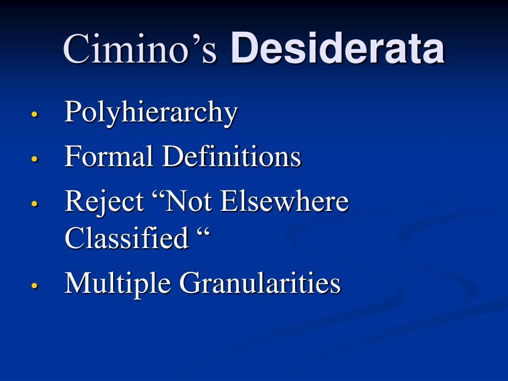 Cimino's
