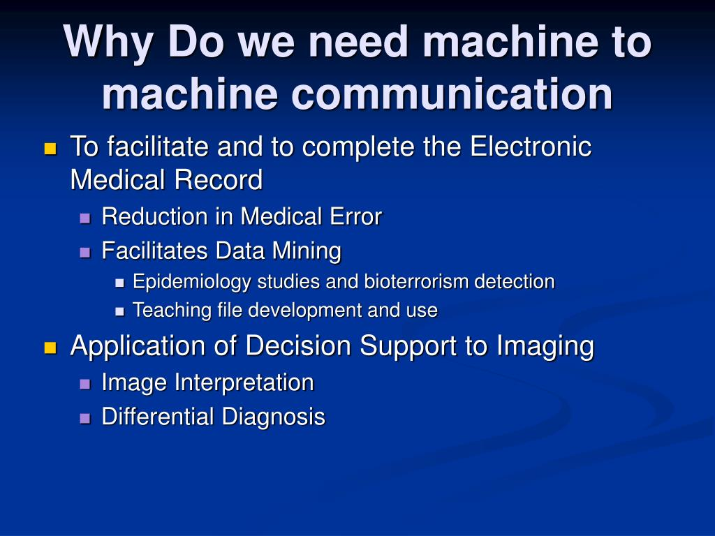 Why Do we need machine to machine communication