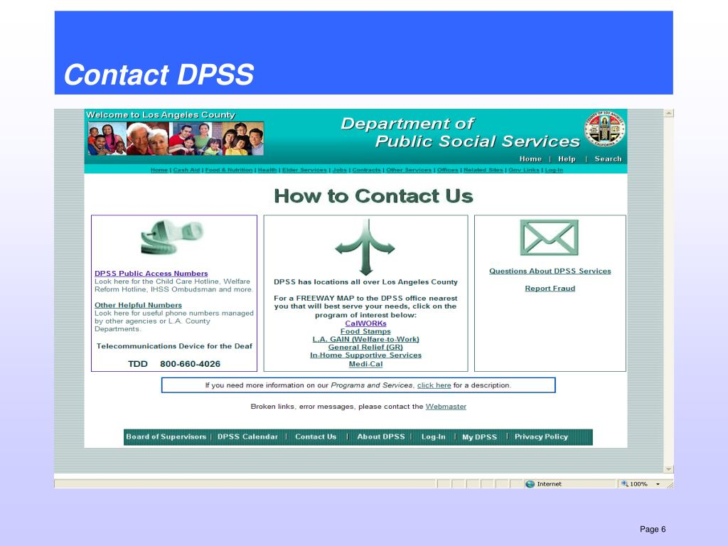Contact DPSS