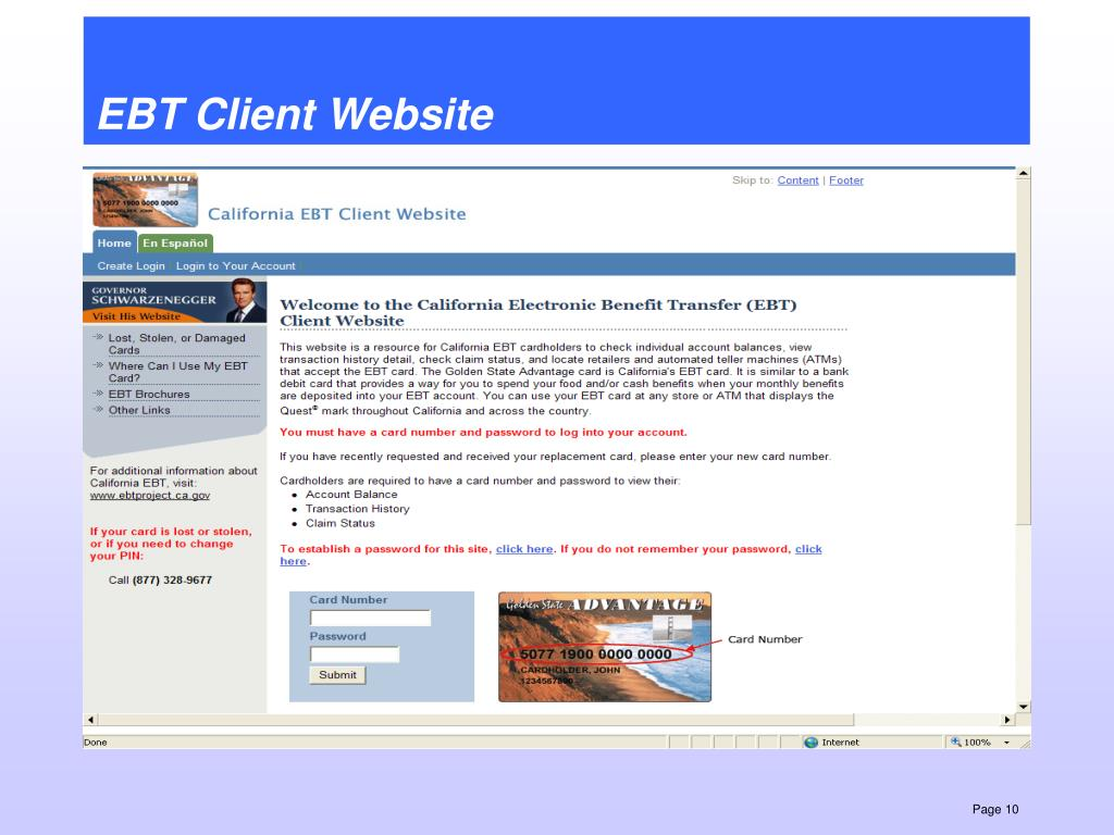 EBT Client Website