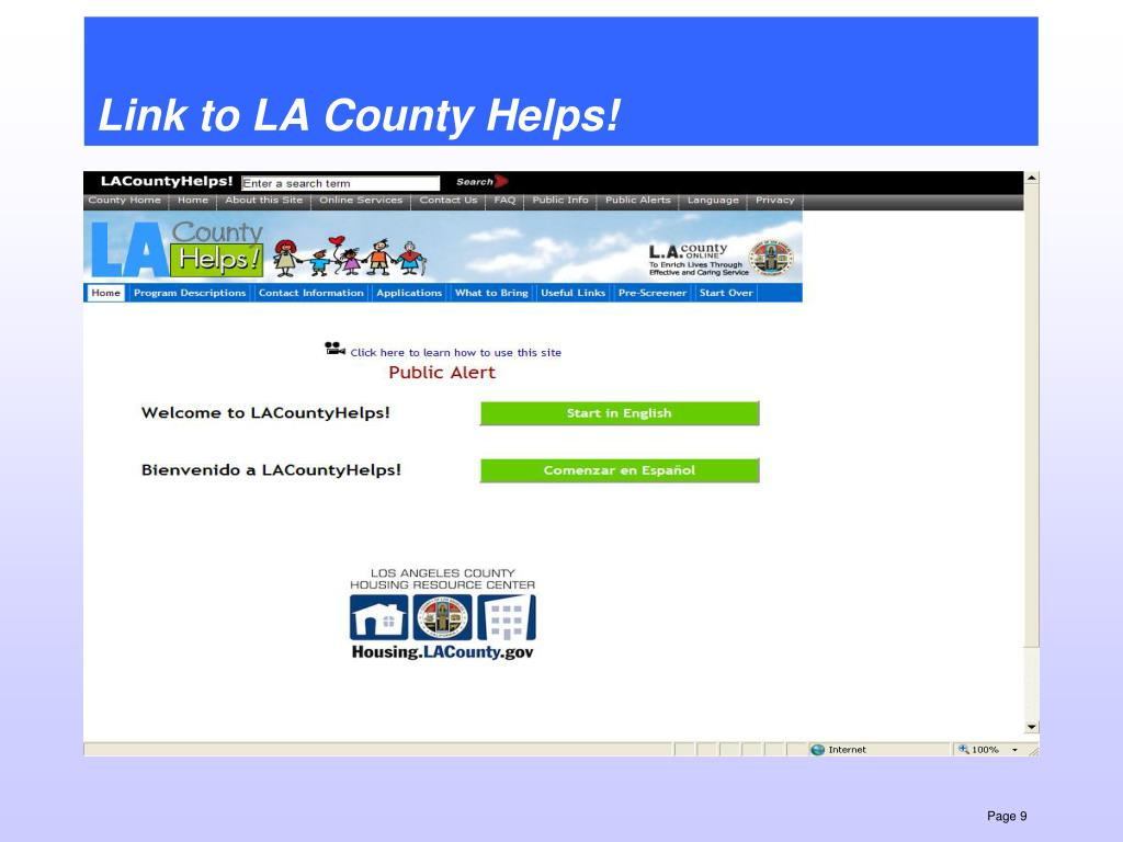 Link to LA County Helps!