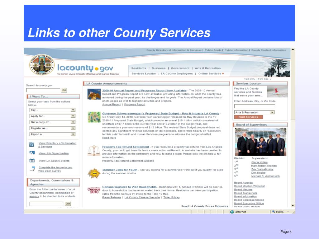 Links to other County Services