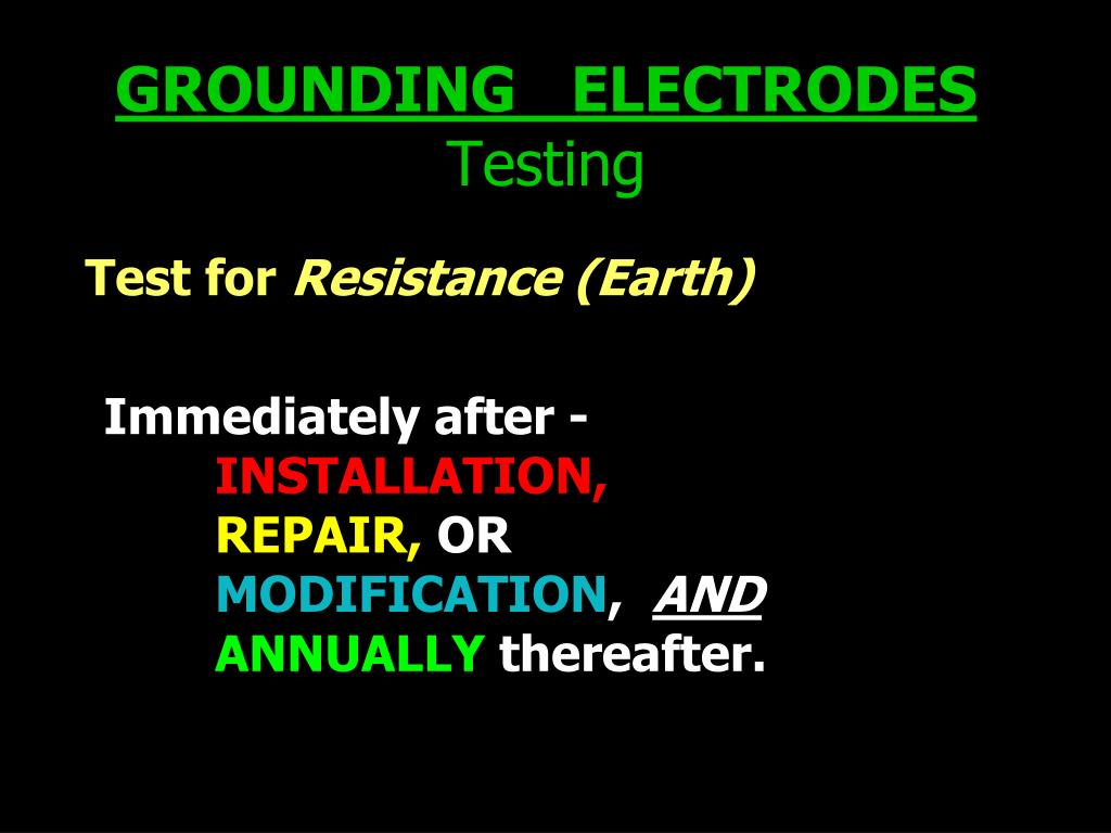GROUNDING   ELECTRODES