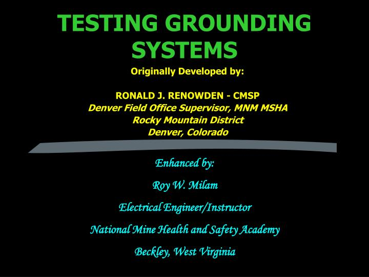 Testing grounding systems l.jpg