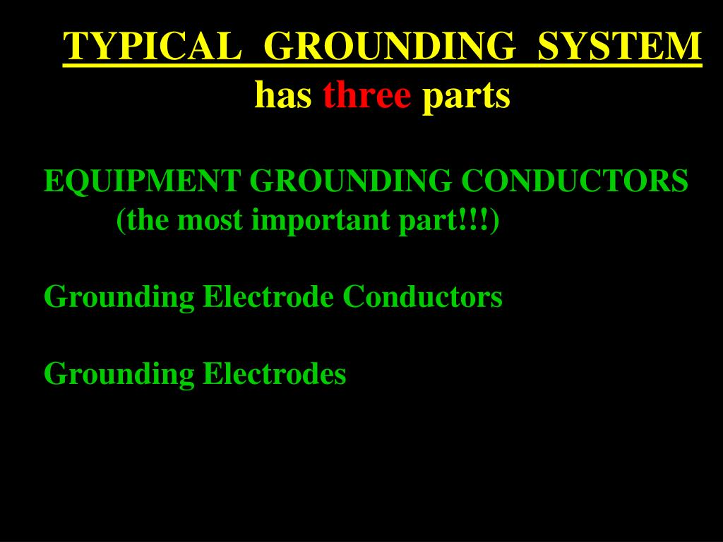 TYPICAL  GROUNDING  SYSTEM
