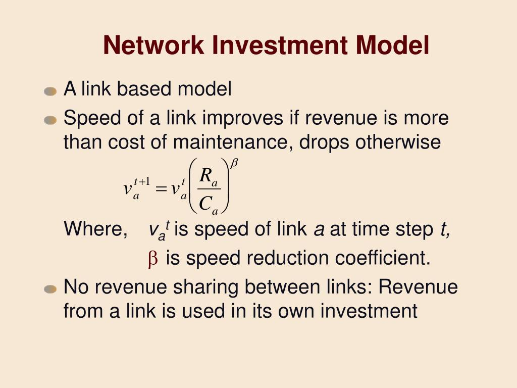 Network Investment Model