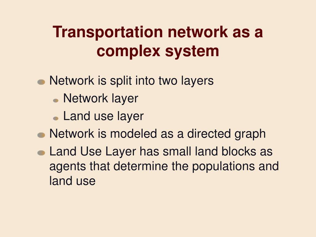 Transportation network as a complex system