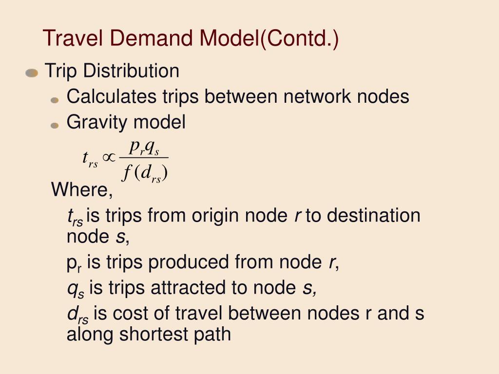 Travel Demand Model(Contd.)