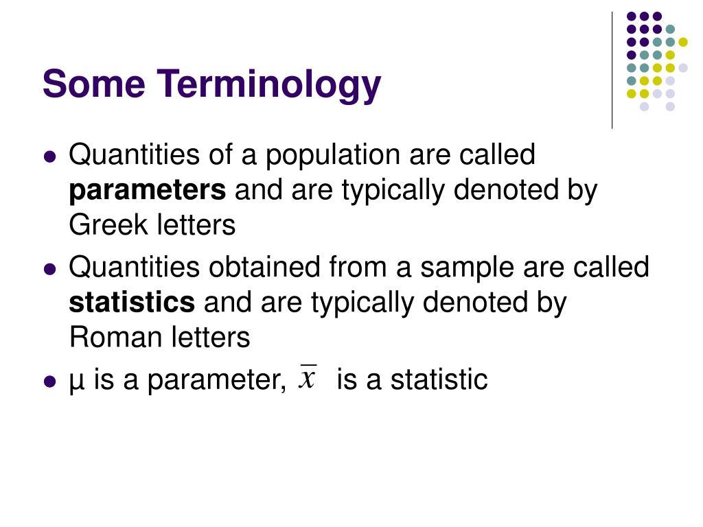 Some Terminology