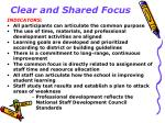 clear and shared focus5