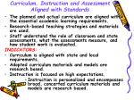curriculum instruction and assessment aligned with standards