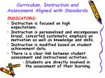 curriculum instruction and assessment aligned with standards16