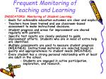 frequent monitoring of teaching and learning19