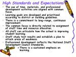 high standards and expectations9