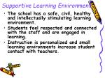 supportive learning environment