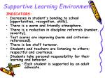 supportive learning environment23