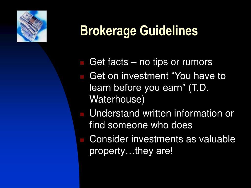 Brokerage Guidelines