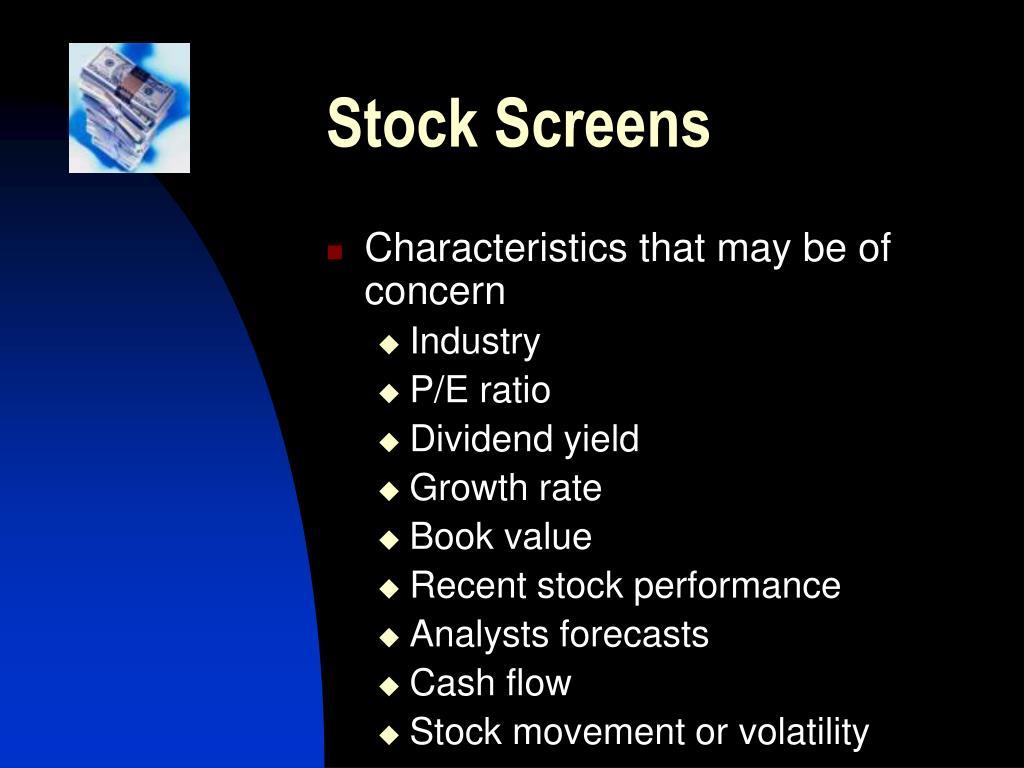 Stock Screens