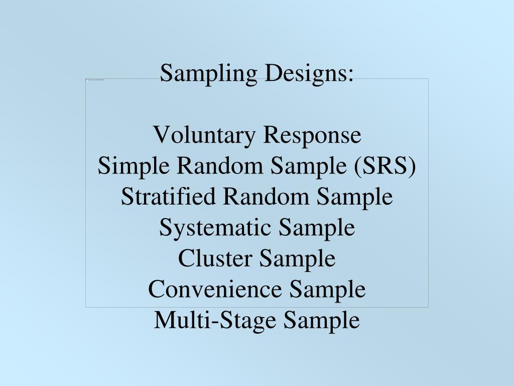 Sampling Designs: