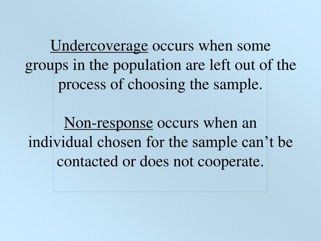Undercoverage