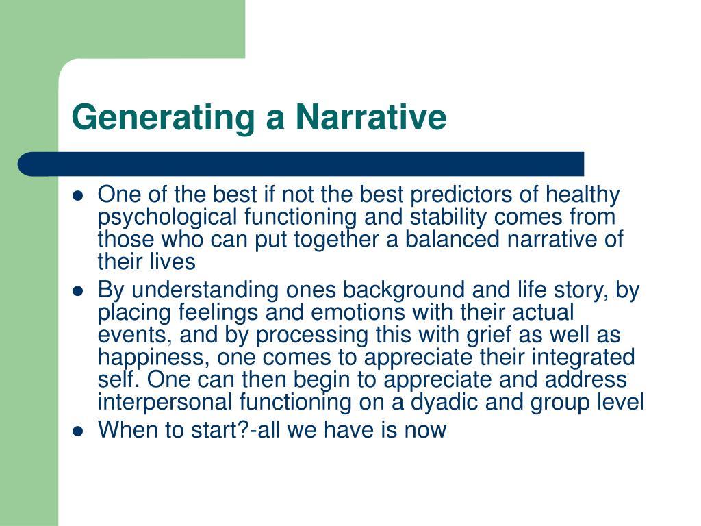 Generating a Narrative