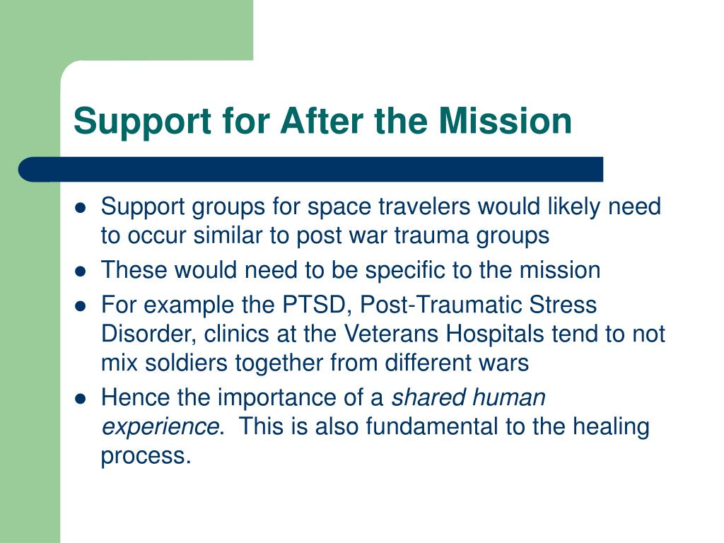 Support for After the Mission