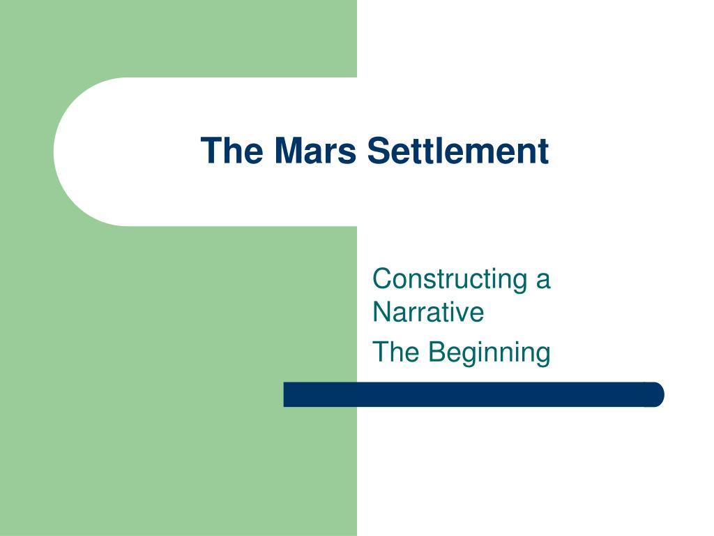 The Mars Settlement