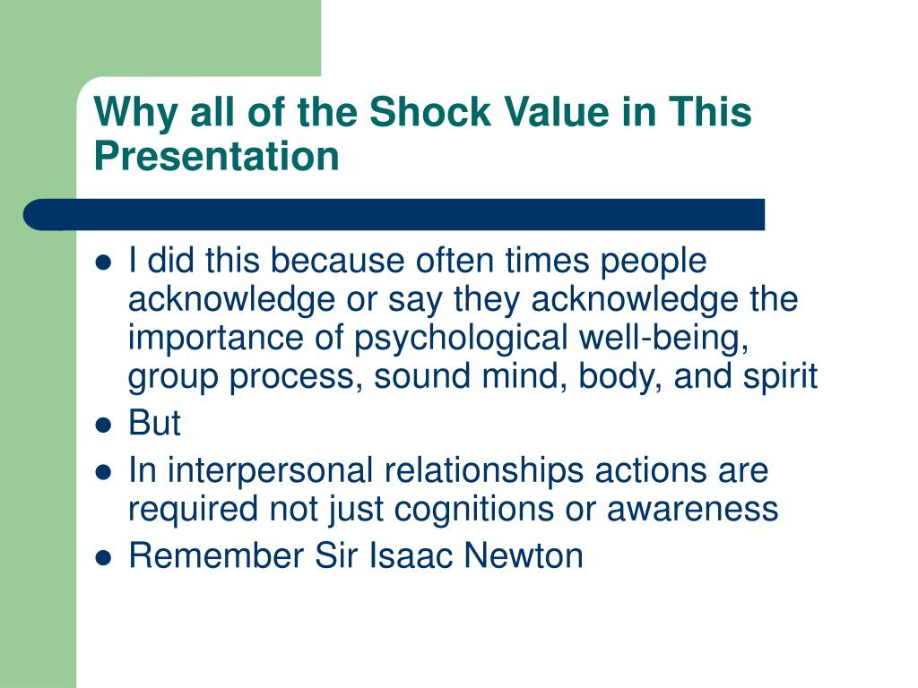 Why all of the Shock Value in This Presentation
