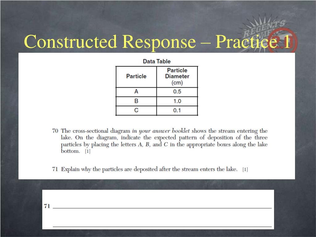 Constructed Response – Practice 1