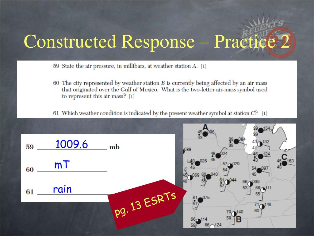Constructed Response – Practice 2