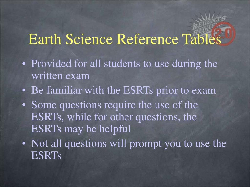 Earth Science Reference Tables