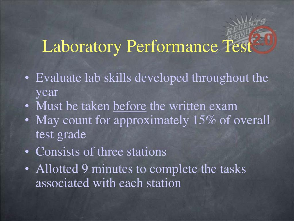 Laboratory Performance Test