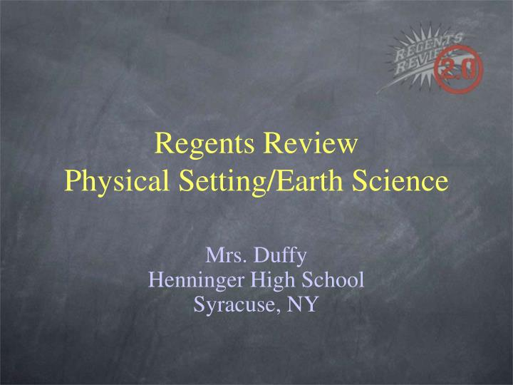 Regents review physical setting earth science l.jpg