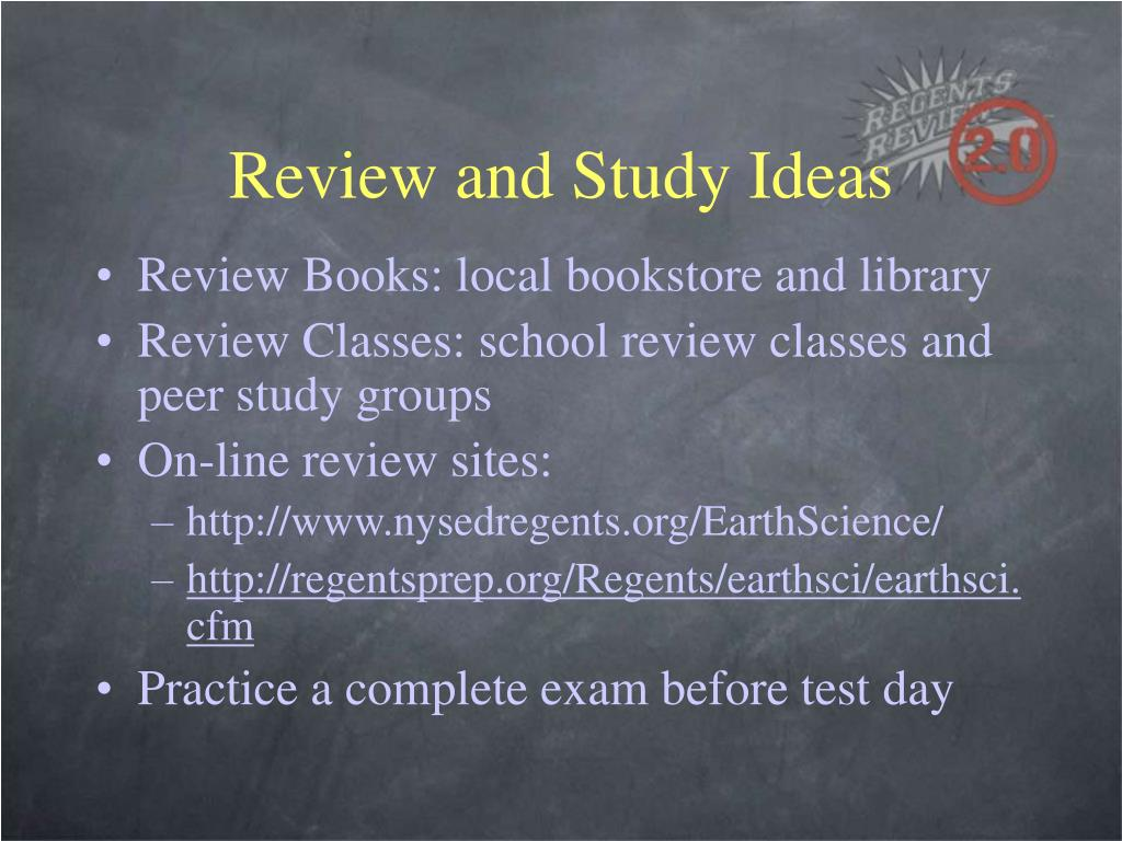 Review and Study Ideas