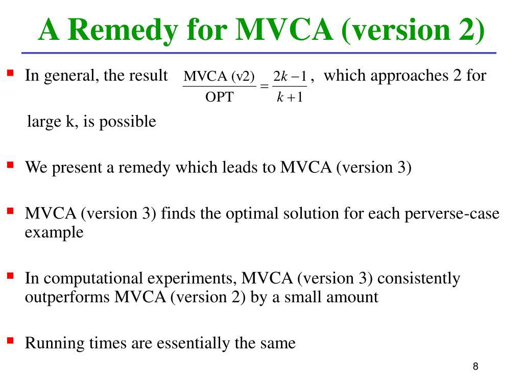 A Remedy for MVCA (version 2)