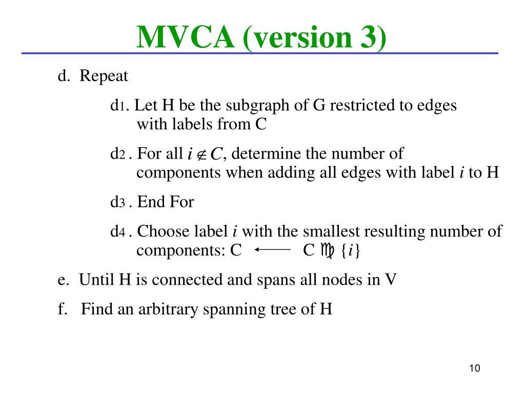 MVCA (version 3)