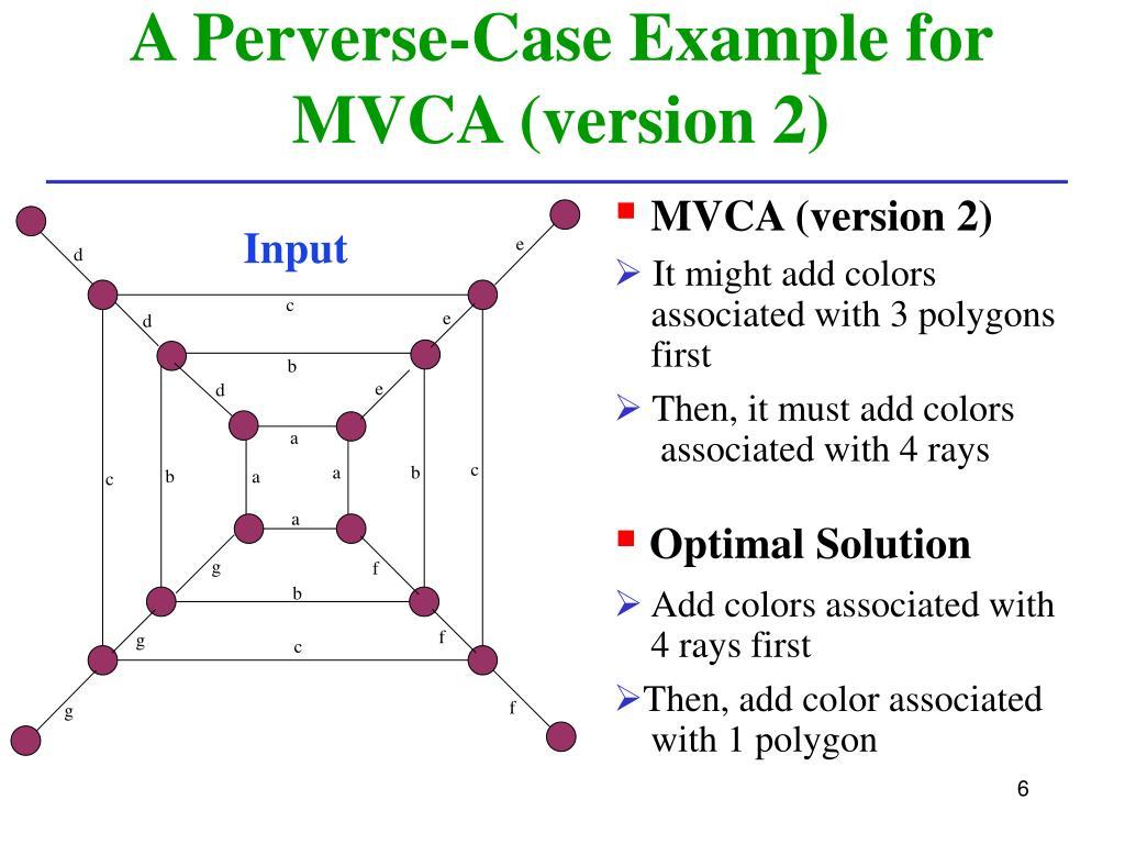 A Perverse-Case Example for MVCA (version 2)