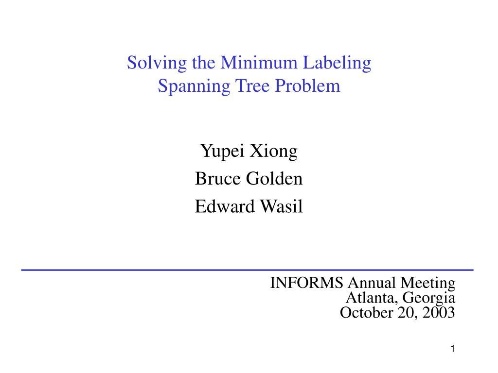 Solving the Minimum Labeling