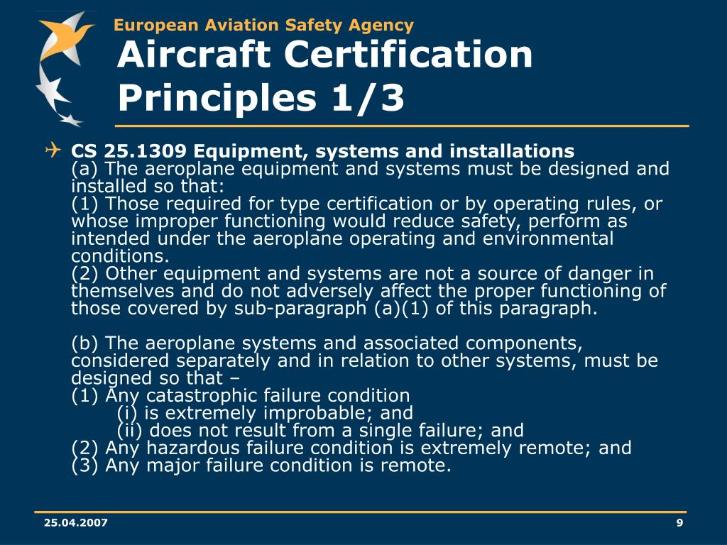 Aircraft Certification Principles 1/3