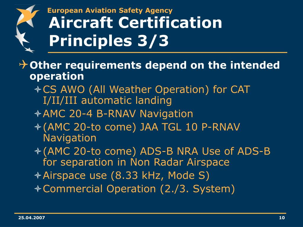Aircraft Certification Principles 3/3