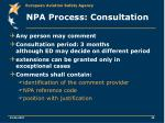 npa process consultation
