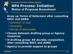 npa process initiation n otice of p roposed a mendment