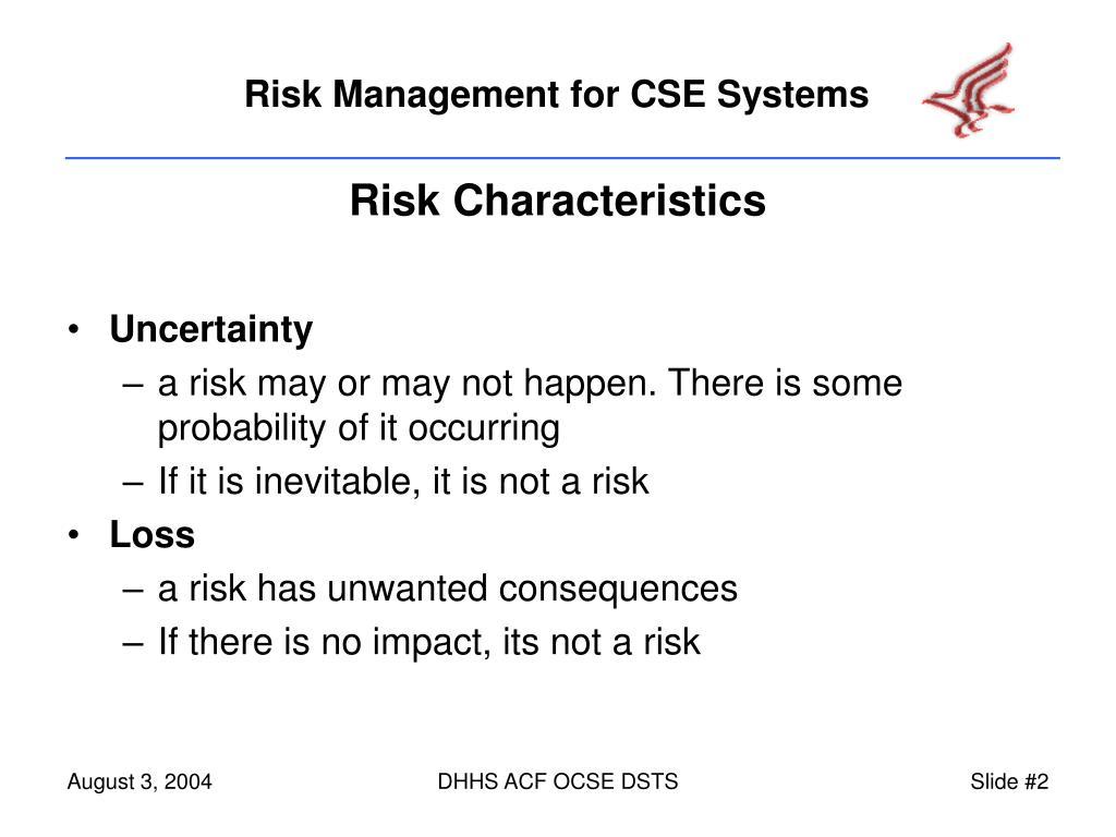Risk Characteristics