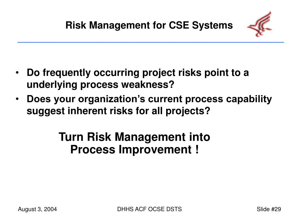 Do frequently occurring project risks point to a underlying process weakness?