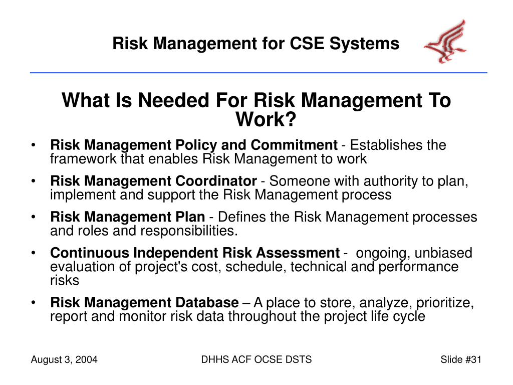 What Is Needed For Risk Management To Work?