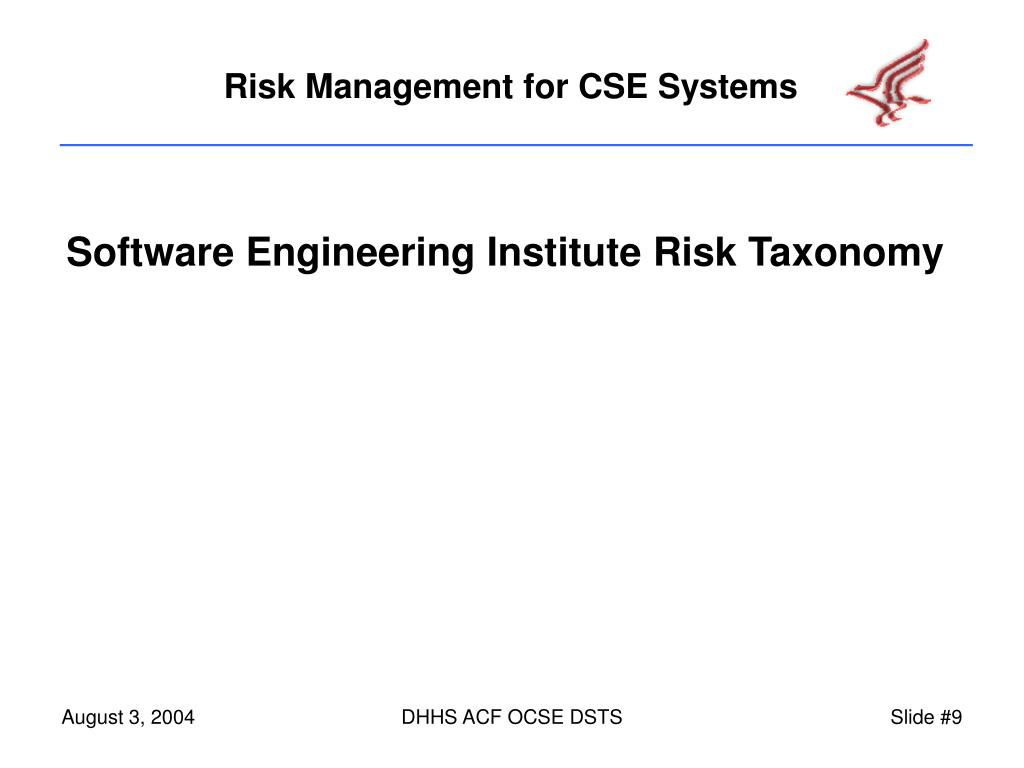 Software Engineering Institute Risk Taxonomy
