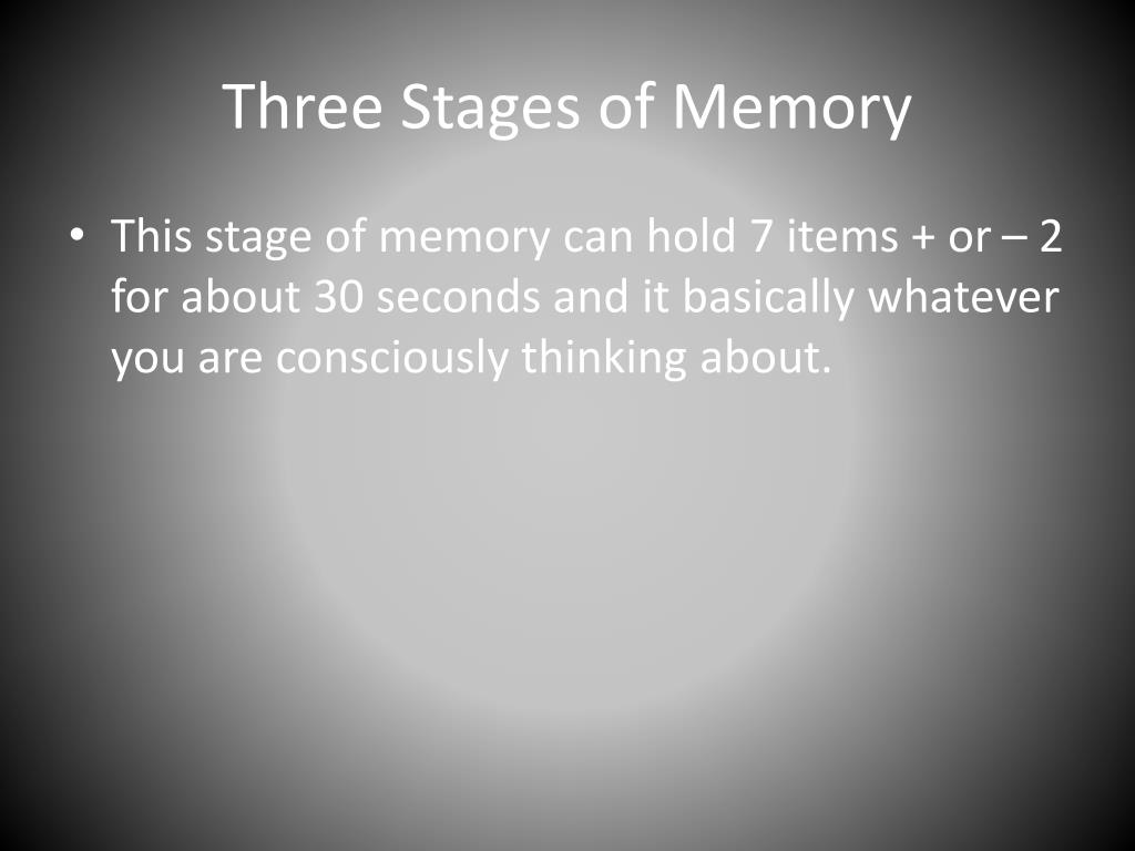 memory stages Time-saving lesson video on the three stages of memory with clear explanations and tons of step-by-step examples start learning today.